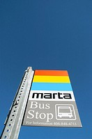 Marta Bus System in Atlanta Sign. USA