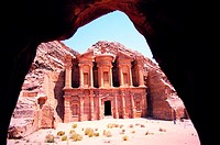 Facade of Ed Deir (The Monastery) in Petra, Jordan (thumbnail)