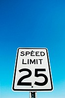 Speed Limit 25 sign on highway interstate freeway road street