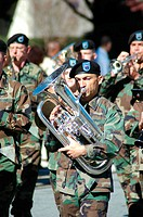 Army band with intruments
