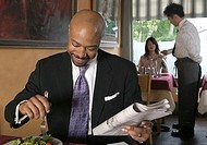 Man dining in restaurant