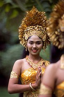 Indonesia, Balinese Girl in Traditional Costume