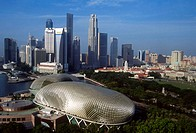 Singapore, Marina Square, Skyline and Arts Centre