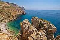 Cove in Granada province coast. Andalucia. Spain