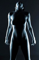 Naked woman in the dark