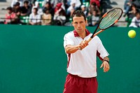 Front View of Male Tennis Player