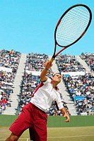 Male Tennis Player With Racquet, Racket