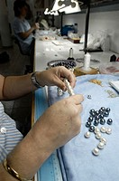 Making process of Orquidea pearls. Montuiri. Mallorca. Balearic Islands. Spain.