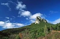 La Concepción rock formation, Sierra de Codés. Navarra, Spain
