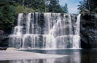 Tsusiat Falls Pacific Rim National Park Vancouver Island British Columbia Canada