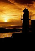 Silhouette of a lighthouse, Dingle Lighthouse, Dingle, County Kerry, Ireland