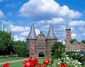 Holstentor, Lubeck, Schleswig-Holstein, Germany