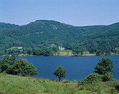 Green Hills and Lake, Loch Achray, Trossochs, Scotland