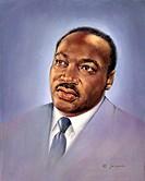 Martin Luther King, Jr. (II)  20th C. Joe Cauchi (1918-1986 American)
