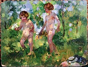 Children in the Woods  Martha Walter (1875-1976 American) Oil on board David David Gallery, Philadelphia, Pennsylvania, USA