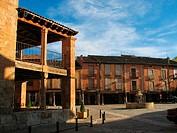 Square. Ayllón. Segovia province. Castilla y Leon. Spain.