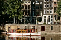 Houseboats at Eilandsgracht, Amsterdam. Holland