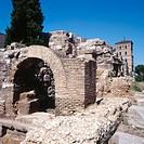 Roman ruins, Zaragoza. Aragón, Spain