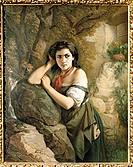 fine arts, Grund, Johann, (1808 - 1887), painting, ´Zigeunermädchen´, (´gypsy girl´), 1885, princely collections, Donaueschingen, Baden-Wuerttemberg, ...