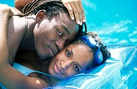 couple in a swiming pool