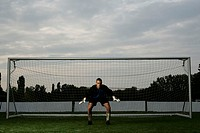 Goalkeeper standing in a goal (thumbnail)