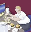 Childhood Obesity 2004 Linda Braucht (20th C. American) Computer graphics