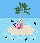 Surfing Online with Sharks 2005 Linda Braucht (20th C. American) Computer graphics
