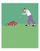Lawn Mowing 2 Linda Braucht (20th C. American) Computer Graphics