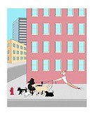 Dog Walker 2 Linda Braucht (20th C. American) Computer Graphics