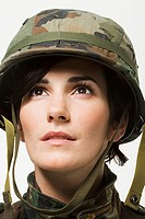 Portrait of a woman soldier