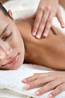 Girl having a massage