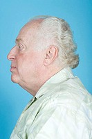 Profile of a senior man