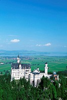 High angle view of Neuschwanstein Castle, Germany
