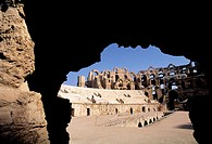 Ruins of the romain amphitheatre at El Jem. Tunisia