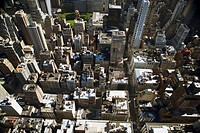 Aerial view of New York City, NY, USA