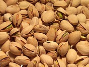 Close-up of a pile of pistachio nuts