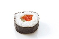 Maki-Sushi with tomatoe and cucumber