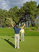 Couple playing golf (thumbnail)