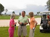 Golfers chatting