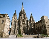 Gothic cathedral. Barcelona. Spain