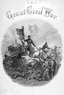 Allegorical engraving of Victory from title page Volume 3 The Great Civil War A History of the Late Rebellion by Robert Tomes & Benjamin G. Smith publ...