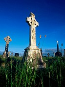 Celtic Cross in Kilmacduagh, County Clare, Ireland