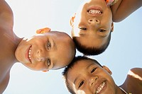 Young boys smiling for the camera