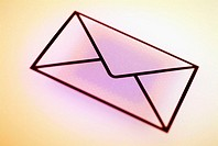 Close-up of an envelope symbol