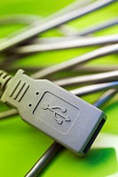 Close-up of a computer USB cable