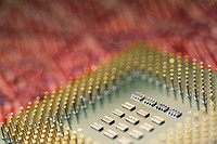 Close-up of a computer chip