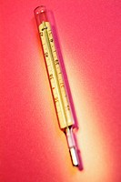 Close-up of a thermometer