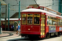 Cable car on the street, New Orleans, Louisiana, USA