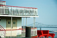 Railing on a paddle steamer, New Orleans, Louisiana, USA
