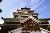 Low angle view of a castle, Hiroshima Castle, Hiroshima, Japan